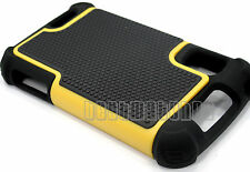 for Motorola atrix 4g mb860 rugged case 3 layer hybrid soft hard black yellow