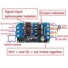 MOS Tube FET Trigger Drive Switch Module PWM Adjust Control DC 4V-60V YG