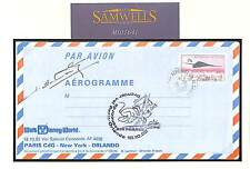 MS1641 1982 Concorde Air France Disney World Aeorgramme Signed 'Schwartz' pilot
