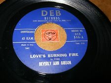 BEVERLY ANN GIBSON - LOVE'S BURNING FIRE - WITHOUT LOVE  / LISTEN / R&B