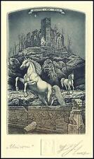 Naidenov Hristo 2007 Exlibris C3 Unicorn Mythology Horse Pferd Cheval Koń 67