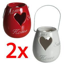 Unbranded Heart Ceramic Candle & Tea Light Holders