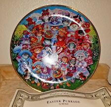 """Franklin Mint """"Easter Purrade"""" Cat Plate (1993, Perfect Condition!)"""