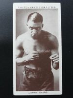 No.17 LARRY GAINS - Boxing Personalities by W.A. & A.C. Churchman 1938