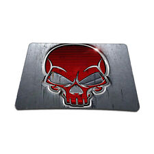 Soft Neoprene Notebook Laptop Optical Mouse Pad Red Skull MP-64