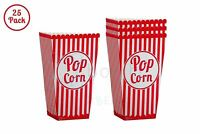 Popcorn Bags 25 Pack Paper Red Popcorn Boxes for Birthdays and Carnival Parties