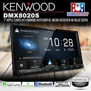 """Kenwood DMX8020S 7"""" Apple CarPlay/Android Auto Media Receiver with Bluetooth"""