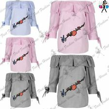 Unbranded Polyester Embroidered Tops & Shirts for Women