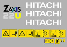 HITACHI ZAXIS 22U Mini Escavatore decalcomania Set
