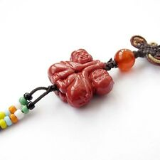 Red Coral Happy Lucky Children Bead Cellphone Strap Charm