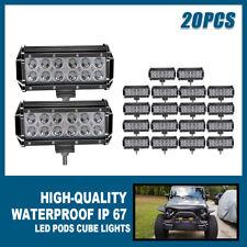 20x 7inch 36W LED Work Light Bar Spot Beam  4WD Pickup SUV Fog Driving Lamp