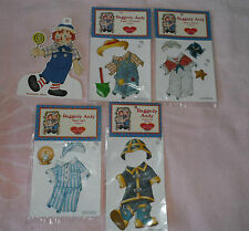Vinyl Cling Paper Dolls & New Clothes Kidoodles Raggedy Andy Peck Aubry