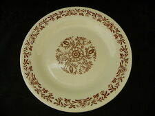 """Oxford Made In Brazil 9 1/4""""  Cream with Brown Flowers 4850"""