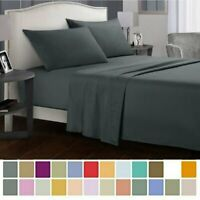 4Pcs Comfortable Bedding Sheet Super Soft Universal Microfiber Bed Sheet Set MY
