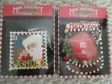 Set Mary Engelbreit Christmas Ornaments Wonder & A time For Sharing Kurt Adler