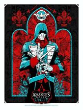 RARE assassini Creed Unity POSTER FIRMATO da artisti Tony Moore & Angry BLU SDCC