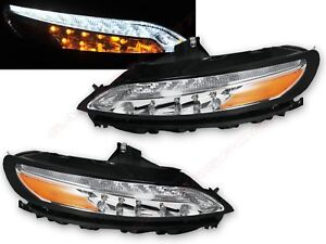 Pair LED Daytime Running DRL & Turn Signal lights for 2014-2018 Jeep Cherokee