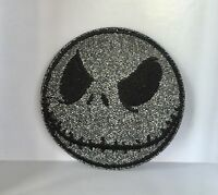 DISNEY LARGE GLITTER JACK SKELLINGTON  EMBROIDERED APPLIQUÉ PATCH SEW OR IRON ON