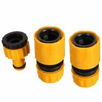 "3PCS Garden Plastic Quick Connect Tap Adapter 1/2 ""3/4 Pipe Hoses Connector Set"