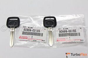 Toyota Genuine NON TRANSPONDER Blank Key Set of  2   90999-00185