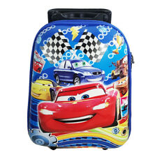 Disney Car Pixar Mcqueen Suitcase Kids Child Toddler Luggage Trolley School Bag