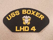 USS Boxer LHD 4 Navy Ship Cap Patch Tab Insignia USN Badge Military