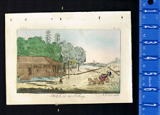 View of a hotel in Philadelphia, Pennsylvania, 18th century  - 1800s Print
