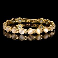 Ladies Magnetic Bracelet Beautiful Pale Cream Gemstones Arthritis Pain Relief