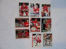 Dino Ciccarelli 9 Card Lot ALL DIFFERENT Detroit Red Wings PACK FRESH !!