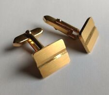 Cufflinks Modern Stripe Gold Metal Vintage Gift for Him Abstract jewelry