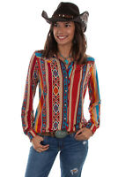Scully Women's Serape Western Long Sleeve Blouse HC514