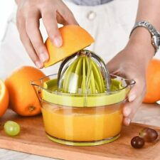 Orange Lemon Juicer Manual Hand Squeezer with Built-in Measuring Cup and Grater