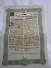 Action obligation au porteur République d'Autriche 1923