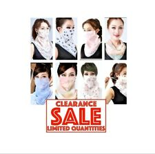 Washable Face Scarf Mask for Women with Ear Loop Face Mask Bandana