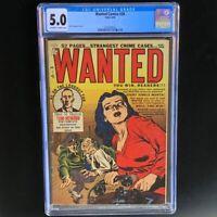 Wanted Comics #28 (Orbit 1950) 💥 CGC 5.0 💥 Highest Graded! Mort Lawrence Cvr