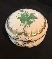 Herend - Apponyi grün Deckeldose Dose - Golddekor - handbemalt - 16D35-5
