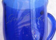 Starbucks Blue Glass footed coffee / tea  mug / cup