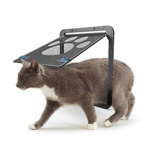Magnetic Automatic Lock/Lockable Pet Cat Dog Flap Safe Screen Door Gate S/L