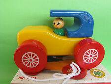 Vintage Rare Kouvalias Wooden Pull Toy City Car  No 940 NIB
