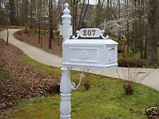 Better Box Mailboxes - WHITE - Decorative Cast Aluminum Mail Box BB-W Mailbox