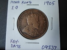 """HONG KONG 1905 EDWARD VII """" KEY-DATE"""" 1 CENT, ALMOST STRONG EF! VERY SCARCE DATE"""