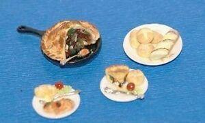 CHICKEN POT PIE  Dollhouse Miniature Food Dinner 1/12 Scale Kitchen