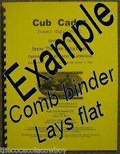 "Cub Cadet 450 Snow Blower Snow Thrower 45"" Operator Parts Manual 45 inch"