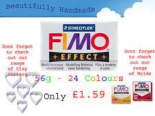 Nouvelle annonce Fimo Effet 56g Argile Polymère 24 Couleurs Modelage Bijoux Artisanat 5.5cm x