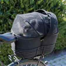 TRIXIE Rear Bicycle Basket for Pets 29x42x48cm Black Bicycle Tote Pet Carrier