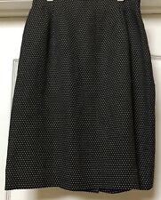 Oscar De La Renta Pencil Skirt Rayon/ Linen Blend, Size 10. Classic Made In USA