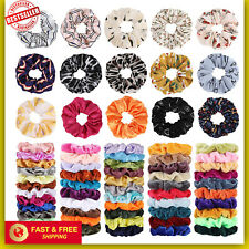 68 Pack Hair Scrunchies Velvet Ponytail Holder Elastic Ties Band Satin Chiffon