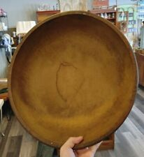 New ListingWow! Early Primitive Wood Carved Round Butter Dough Bowl Antique Vtg Old