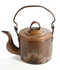Hand Made Solid Distressed Copper Teapot Kettle Removable Lid Fancy Spout