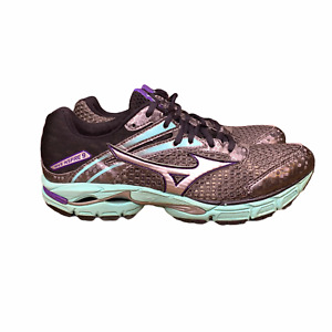 Mizuno Wave Inspire 9 Running Shoes Womens Size 9 Athletic Sneakers Gray Blue